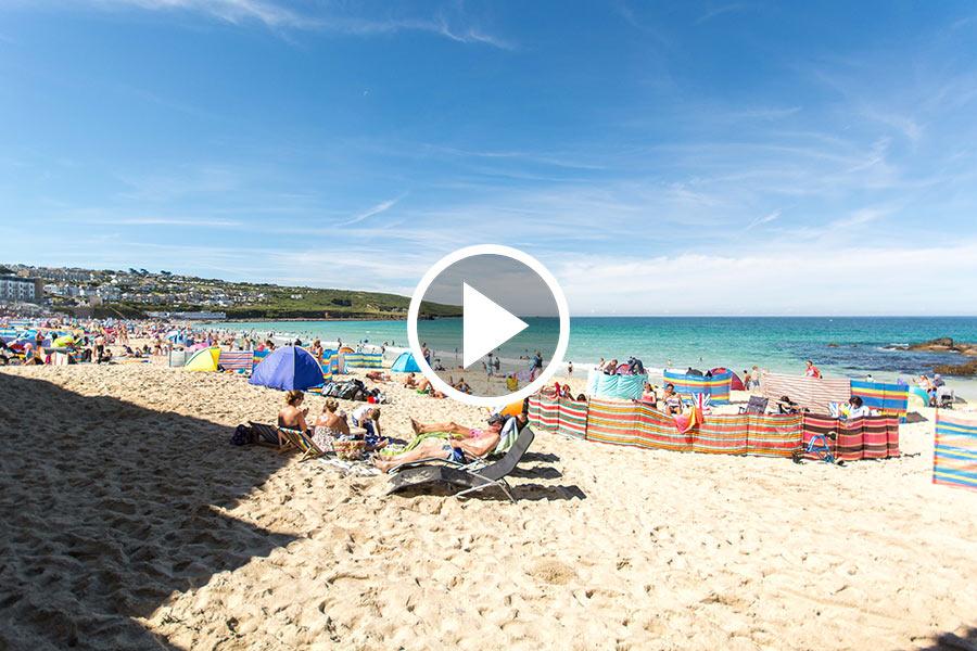 St Ives Porthmeor Webcam Aspects Holidays