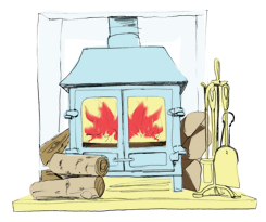 Cottages with a woodburner
